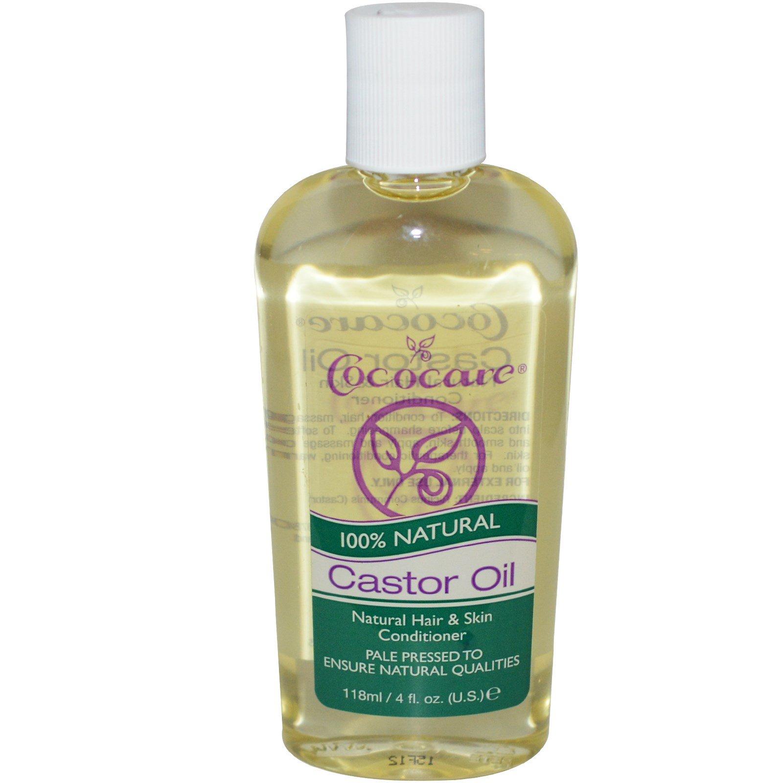 Cococare, 100% натуральное касторовое масло, 4 жидких унции (118 мл)