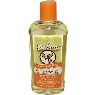 Cococare, Aceite de Almendra 100% Natural, 4 fl oz (118 ml)