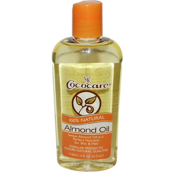 Cococare, 100% Natural Almond Oil, 4 fl oz (118 ml)