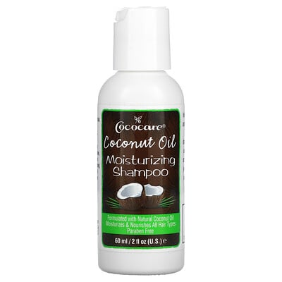 Cococare Coconut Oil Moisturizing Shampoo, 2 fl oz (60 ml)