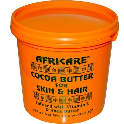 Купить Africare, какао-масло для кожи и волос, 297 г (10, 5 унции)