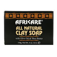 Cococare, Africare,全天然粘土皁,含有橄欖油和乳木果油,4 盎司(110 克)