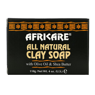 Cococare, Africare, All Natural Clay Soap with Olive Oil & Shea Butter, 4 oz (110 g)