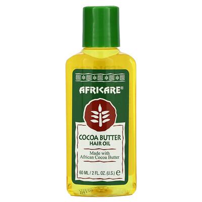 Купить Cococare Africare, Cocoa Butter Hair Oil, 2 fl oz (60 ml)