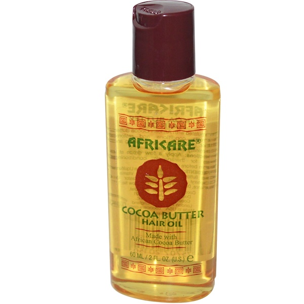 Cococare, Africare, Cocoa Butter Hair Oil, 2 fl oz (60 ml)
