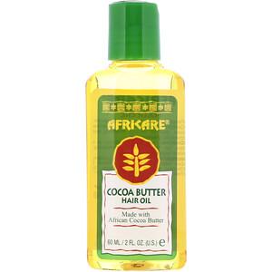 Кококер, Africare, Cocoa Butter Hair Oil, 2 fl oz (60 ml) отзывы покупателей