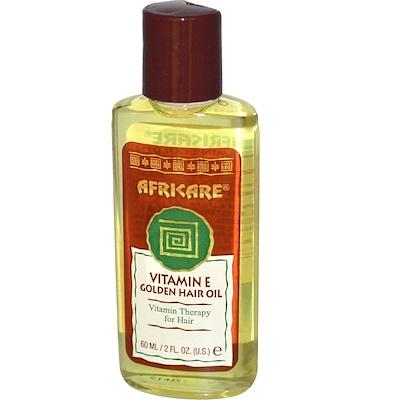 Купить Africare, Масло Витамина Е для волос 2 жидких унции (60 мл)
