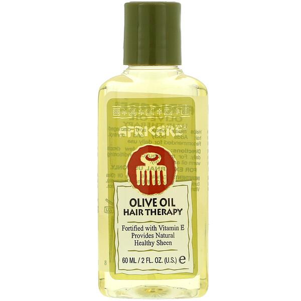 Африкэр, оливковое масло для терапии волос, 60 мл (2 жидкие унции)