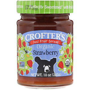 Клофтерс Органик, Organic, Just Fruit Spread, Strawberry, 10 oz (283 g) отзывы покупателей