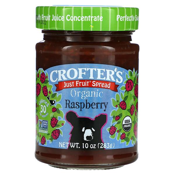 Just Fruit Spread, Organic Raspberry, 10 oz (283 g)