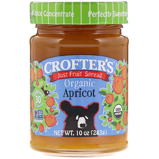 Crofter's Organic, Just Fruit Spread, Apricot, 10 oz (283 g)