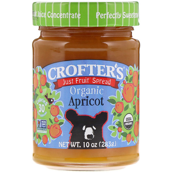 Crofter's Organic, Just Fruit Spread、アプリコット、 10 oz (283 g) (Discontinued Item)