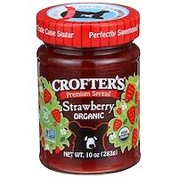 Crofter's Organic, 프리미엄 스프레드, 딸기, 유기농, 10 oz (283 g)
