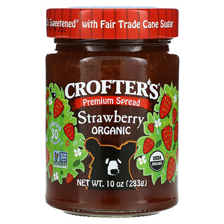 Crofter's Organic, Organic Premium Spread, Strawberry, 10 oz (283 g)