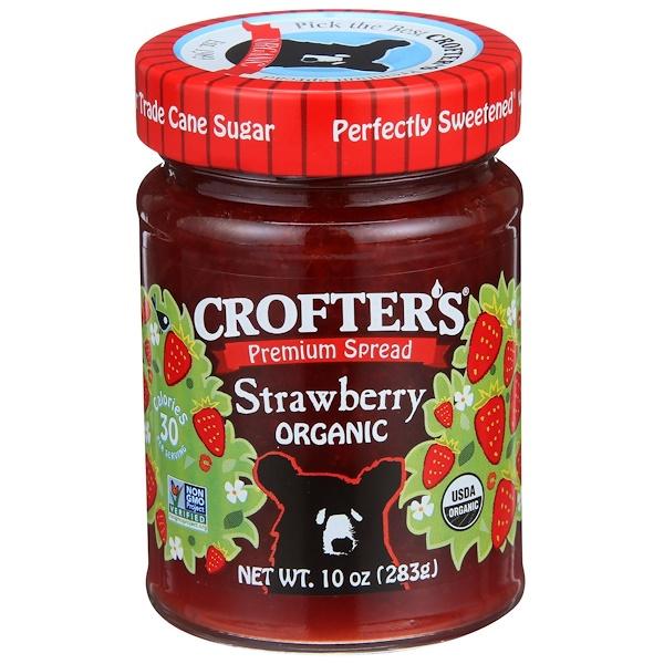 Crofter's Organic, プレミアムスプレッド、ストロベリー、オーガニック、10 oz (283 g)