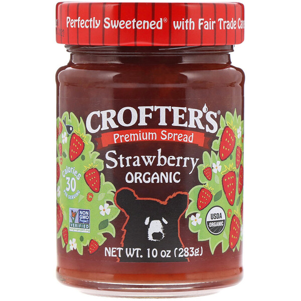 Crofter's Organic, Crofter's, Organic  Strawberry, 10 oz (283 g) (Discontinued Item)