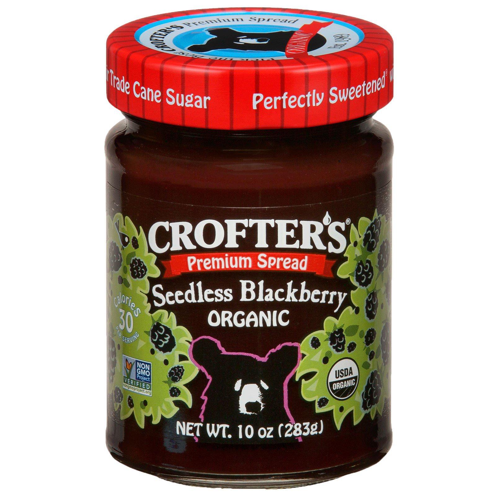 Crofter's Organic, Органический, премиум-спред, голубика без семян, 10 унций (283 г)