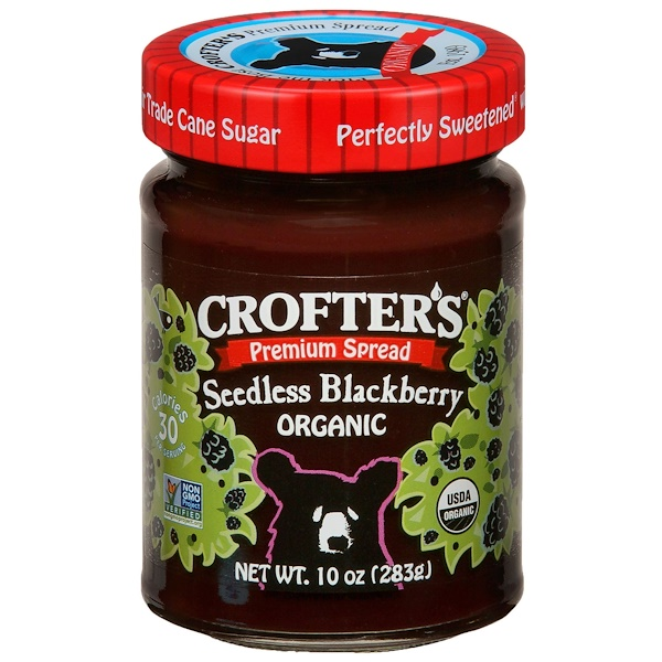 Crofter's Organic, Organic Premium Spread, Seedless Blackberry, 10 oz (283 g) (Discontinued Item)