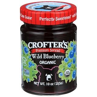 Crofter's Organic, 유기농, 프리미엄 스프레드, 야생 블루베리, 10 oz (283 g)