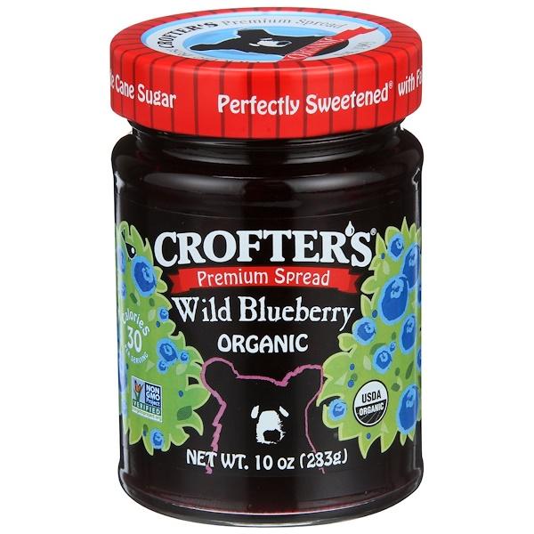 Crofter's Organic, Органический высококачественный спред, дикая черника, 10 унций (283 г)