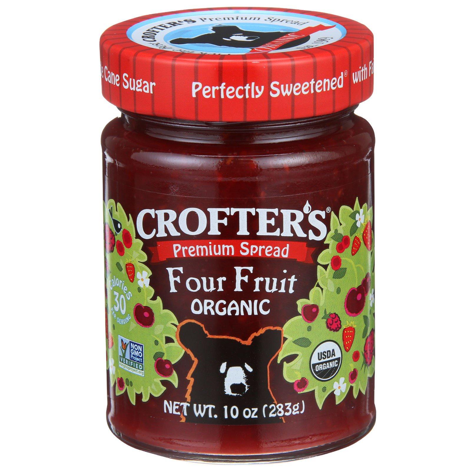 Crofter's Organic, Премиум паста, четыре фрукта, 283 г (10 унций)