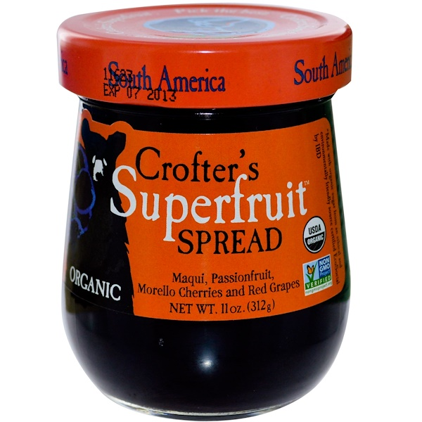 Crofter's Organic, Organic, Superfruit Spread, South America, 11 oz (312 g) (Discontinued Item)