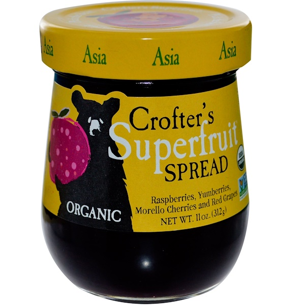 Crofter's Organic, Organic, Superfruit Spread, Asia, 11 oz (312 g) (Discontinued Item)