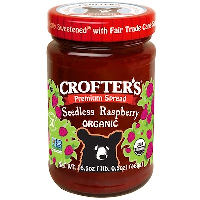 Crofter's Organic 有機優質調味品,無籽覆盆子,16.5盎司(468克)