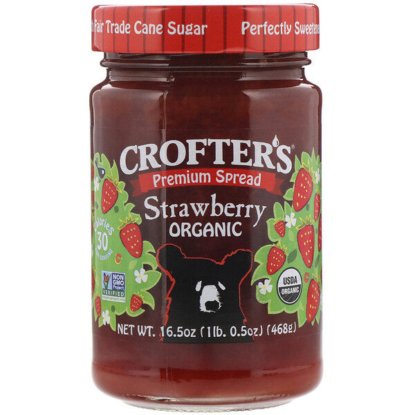 Crofter's Organic, Premium Spread, Strawberry, 16.5 oz (468 g) (Discontinued Item)