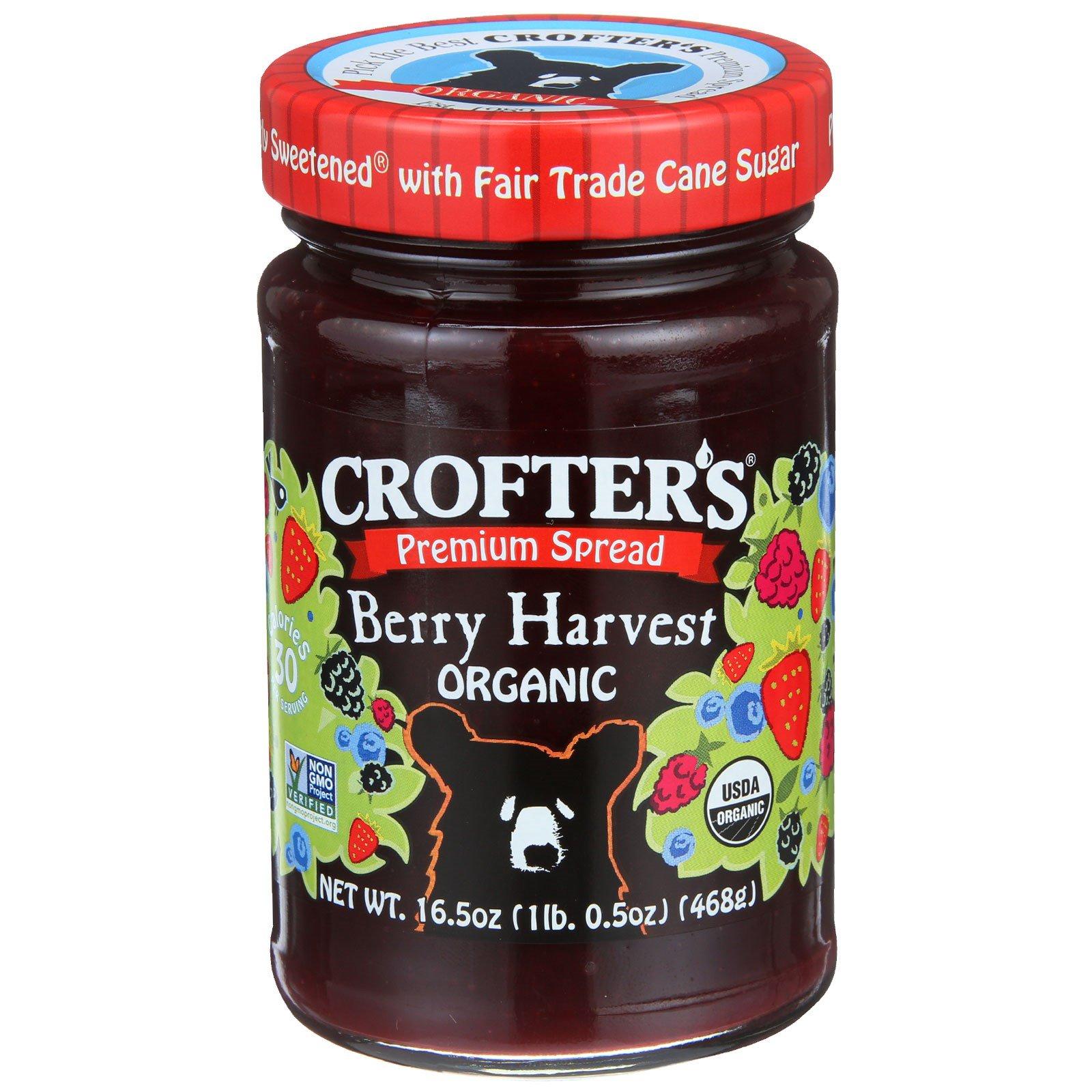 Crofter's Organic, Ягодный джем высшего качества, 16.5 унций (468 г)