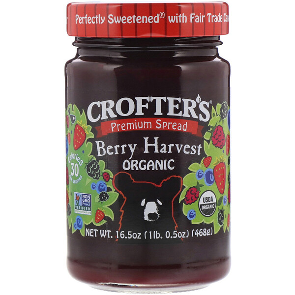 Crofter's Organic, Premium Spread, Berry Harvest Organic, 16.5 oz (468 g) (Discontinued Item)
