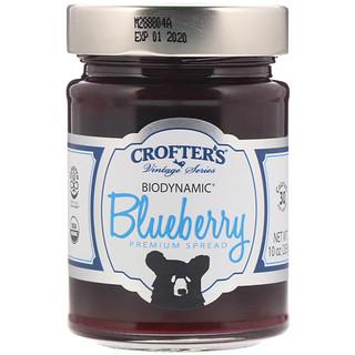 Crofter's Organic, Biodynamic, Premium Spread, Blueberry, 10 oz (283 g)