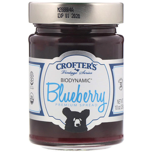 Crofter's Organic, Biodynamic, Premium Spread, Blueberry, 10 oz (283 g) (Discontinued Item)