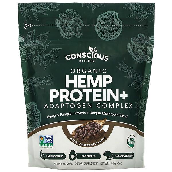 Organic Hemp Protein+ Adaptogen Complex, Aztec Chocolate, 1.0 lbs (454 g)