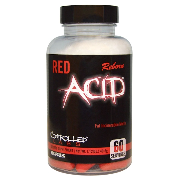 Controlled Labs, Red Acid Reborn, 60 Capsules (Discontinued Item)