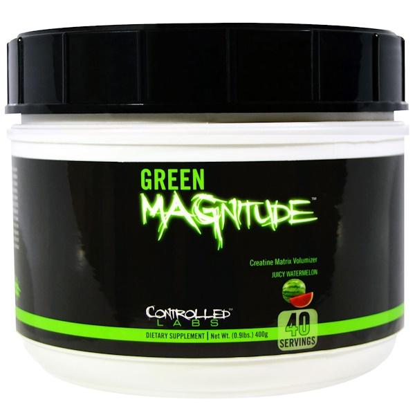 Controlled Labs, Green Magnitude, Creatine Matrix Volumizer, Juicy Watermelon, 0.9 lbs (400 g) (Discontinued Item)