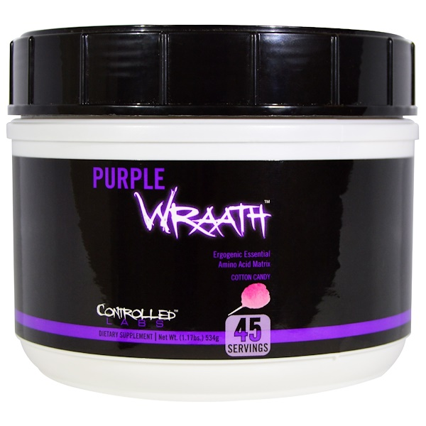 Controlled Labs, Purple Wraath, Cotton Candy, 1.17 lbs (534 g) (Discontinued Item)
