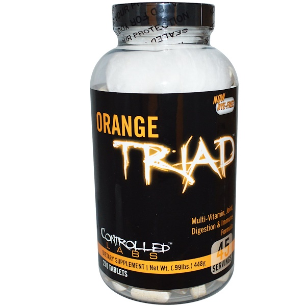 Orange Triad, Multi-Vitamin, Joint, Digestion & Immune Formula, 270 Tablets