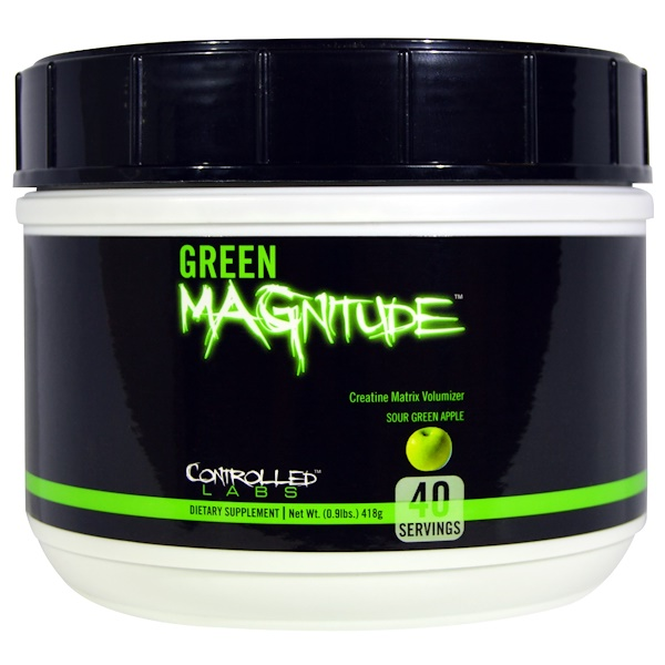 Controlled Labs, Green Magnitude, Sour Green Apple, 0.9 lbs (418 g) (Discontinued Item)