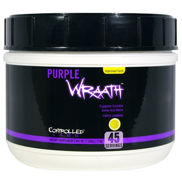 Controlled Labs, Purple Wraath, Purple Lemonade, 1.26 lbs (576 g) (Discontinued Item)