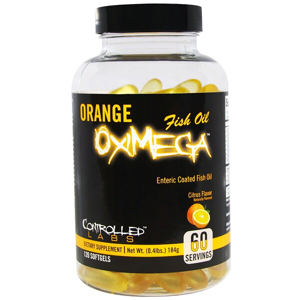 Orange OxiMega Fish Oil, Citrus Flavor, 120 Softgels