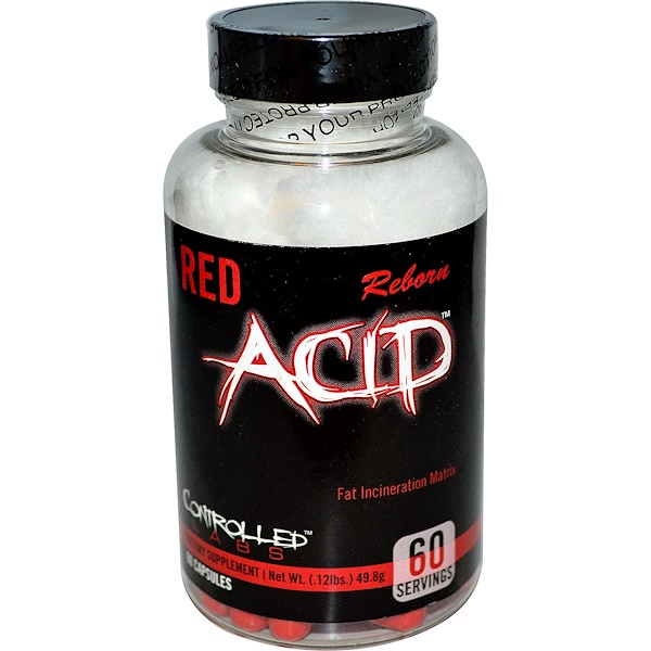 Controlled Labs, Red Acid Reborn, капсулы 60 капсул (Discontinued Item)