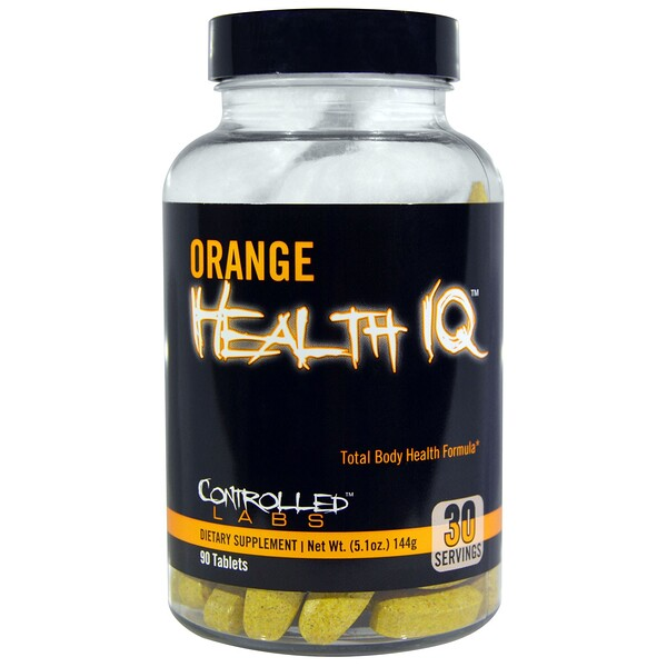 Controlled Labs, Orange Health IQ, 90 Tablets (Discontinued Item)