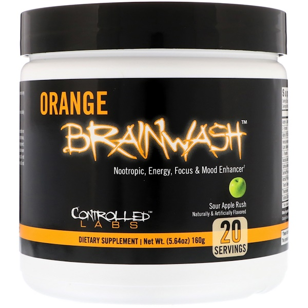 Controlled Labs, Orange Brainwash, Sour Apple Rush, 5.64 oz (160 g)