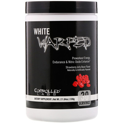 Controlled Labs White Warped, Preworkout, Strawberry Jelly Bean, 11.64 oz (330 g)