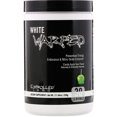 Controlled Labs White Warped, Preworkout, Candy Apple Sour, 11.64 oz (330 g)
