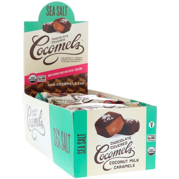 Cocomels, Orgânico, Caramelos de Leite de Coco com Cobertura de Chocolate, 15 Unidades, 28 g Cada