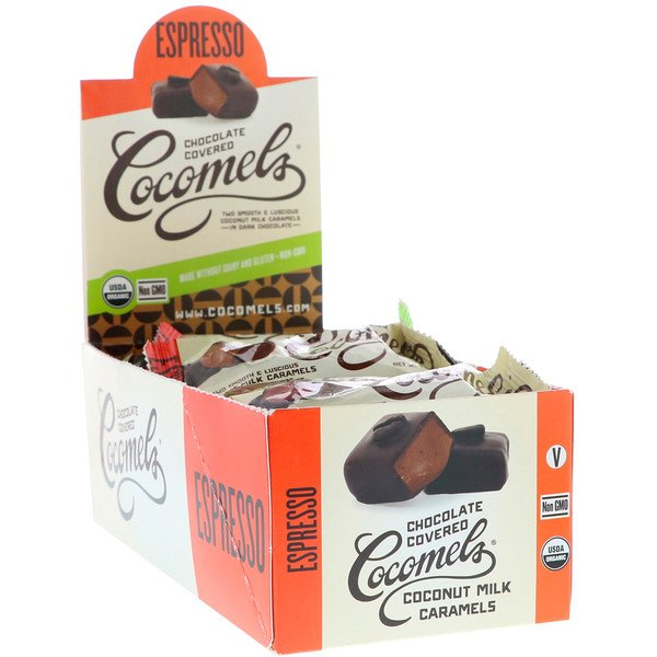 Cocomels, Organic, Chocolate Covered Coconut Milk Caramels, Espresso, 15 Units, 1 oz (28 g) Each (Discontinued Item)
