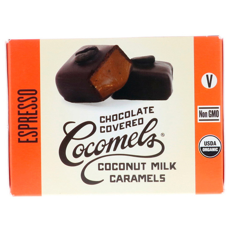 Cocomels, Organic, Chocolate Covered Coconut Milk Caramels, Espresso, 15 Units, 1 oz (28 g) Each - photo 1