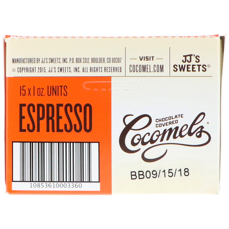 Cocomels, Organic, Chocolate Covered Coconut Milk Caramels, Espresso, 15 Units, 1 oz (28 g) Each - photo 2